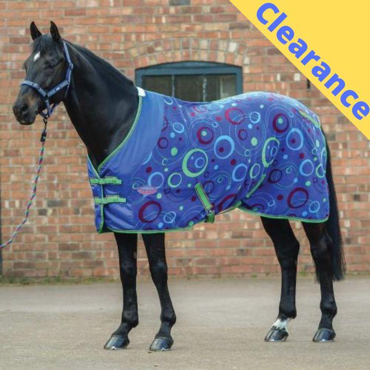 Weatherbeeta Fleece Cooler Combo Neck Rug Black//Turquoise