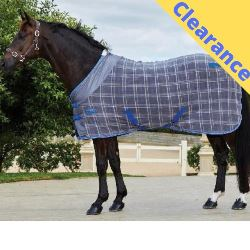 Weatherbeeta Polar Fleece Cooler Grey Plaid