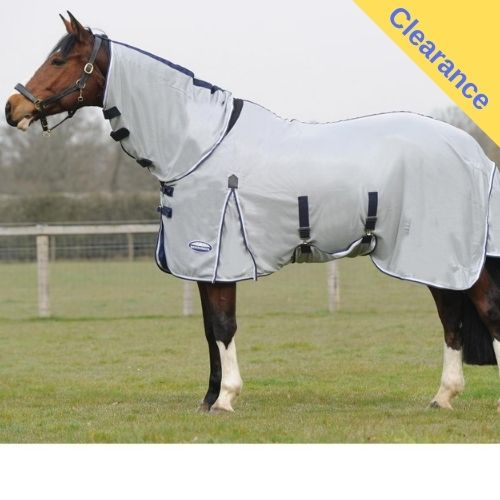 Weatherbeeta Airflow Combo Fly Rug Silver Navy White Fly Rug